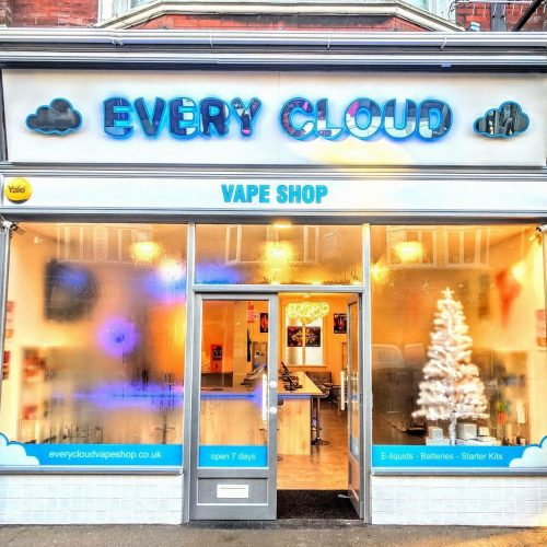 every cloud vape shop, westbourne, outside, signs