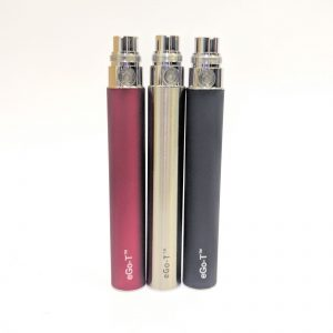 vape, battery, ego, 1100mah, silver, grey, stainless, red, black