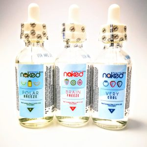 naked 100, eliquid, e-liquid, vape, very cool, brain freeze, polar breeze, menthol, 50ml
