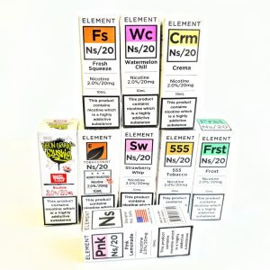 element, ns/20, nic salt, 20mg, far, 10ml