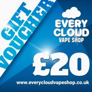 £20 giftcard, vape voucher at every cloud vape shop